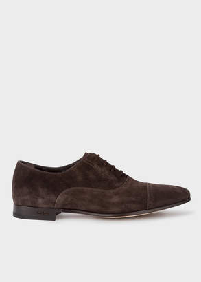 Paul Smith Men's Brown Suede 'Waverly' Semi-Brogues