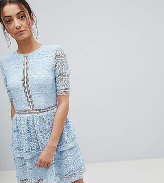 Missguided Tall Lace Layered Mini Dress