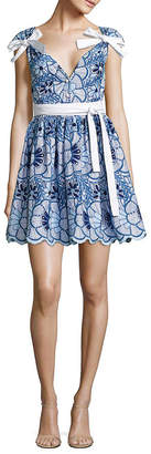 Alexis Lucia Bow Embroidered Dress