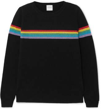 4b3f12ed2a49 Madeleine Thompson Indio Metallic Striped Cashmere Sweater - Black
