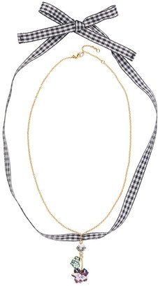 Miu Miu Necklace with floral pendant