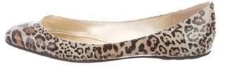 Jimmy Choo Leopard Print Glitter Flats
