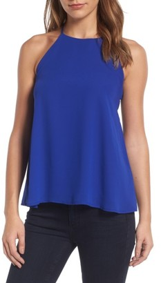 Women's Trouve Y-Back Halter Tank $59 thestylecure.com
