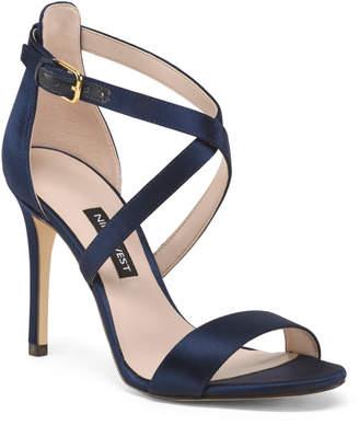 Satin Strappy Heel Sandals