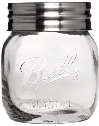 Ball Extra Wide Half-Gallon Decorative Mason Jar with Metal Lid, Clear, 64 Ounces