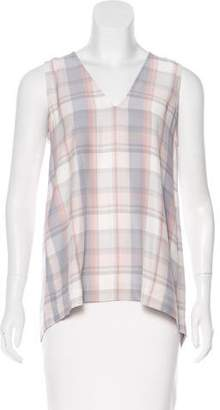 Jenni Kayne Plaid Print Silk Top