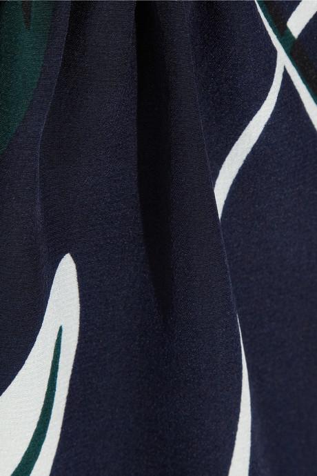Marni Printed silk peplum top