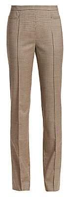 Akris Punto Women's Francoise Plaid Wool-Blend Pants