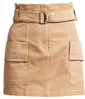 A.L.C. (エーエルシー) - A.L.C. Women's Mia Belted Stretch Cotton Mini Skirt - Size 0