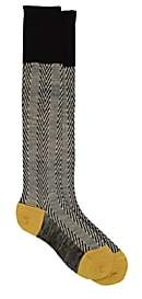 Antipast Women's Herringbone Wool-Blend Knee-High Socks - Black