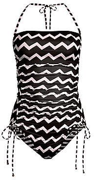 Stella McCartney Women's One-Piece Zigzag Strapless Bathing Suit