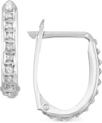 Diamond Fascination Diamond Accent Oval Hoop Earrings