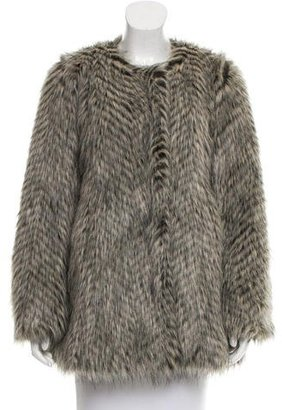 Marc by Marc Jacobs Long Sleeve Faux Fur Jacket