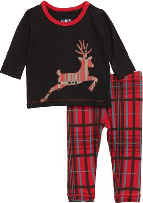 Kickee Pants Print Fitted Two-Piece Pajamas