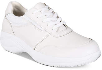 Easy Street Shoes Easy Works By Women's Middy Lace-Up Slip Resistant Sneakers Women's Shoes