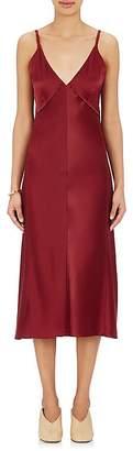 Helmut Lang Women's Satin Slip Dress $520 thestylecure.com