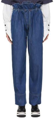 Stella McCartney Blue Benni Paperbag Waist Jeans