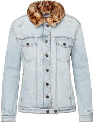Sam Edelman Harper Distressed Denim Jacket