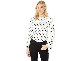 Lauren Ralph Lauren Cotton Bell Sleeve Top