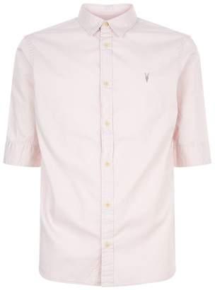 AllSaints Redondo Logo Embroidered Shirt