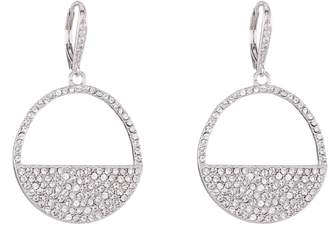 Nina Cutout Pave Swarovski Crystal Drop Earrings