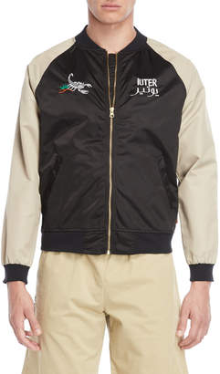 Iuter Embroidered Bomber Jacket