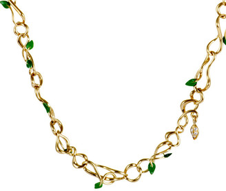 Christian Dior 18K Emerald Necklace