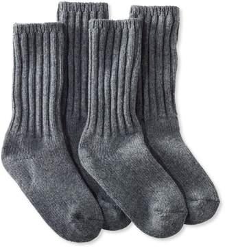 """L.L. Bean L.L.Bean Women's Merino Wool Ragg Socks, 10"""" Two-Pack"""