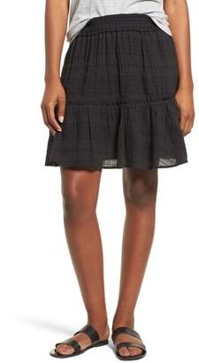 Caslon Smocked Stretch Cotton Mini Skirt