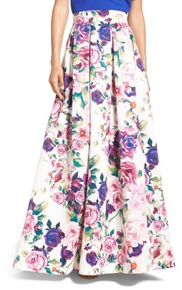 Women's Eliza J Floral Print Ball Skirt $188 thestylecure.com