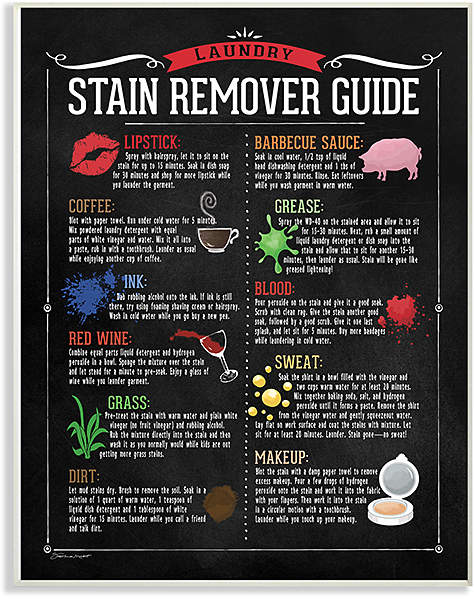 'Stain Remover Guide' Wall Art