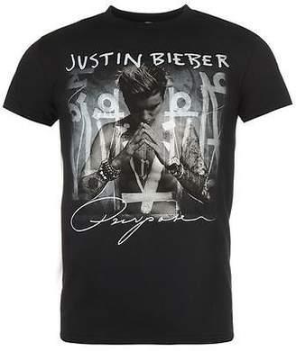 Justin Bieber Official Mens T Shirt Cotton Print Short Sleeve Crew Neck Tee