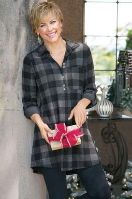 Soft Surroundings Mad About Plaid Tunic