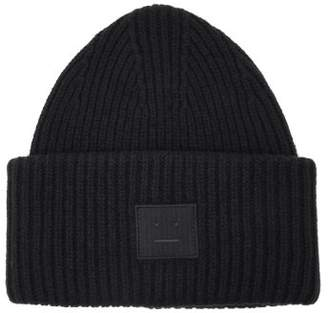 Acne Studios Pansy S Face Wool Beanie Hat - Mens - Navy