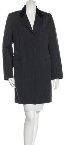 EtroEtro Wool Velvet-Trimmed Coat