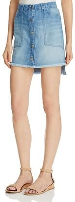 Bella Dahl Button Front Denim Skirt $145 thestylecure.com