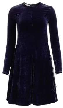 Stella McCartney Crushed Velvet Swing Dress
