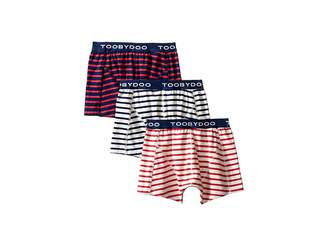 Toobydoo Multi Stripe Underwear 3-Pack (Infant/Toddler/Little Kids/Big Kids)