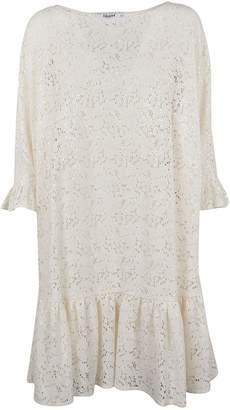 Blugirl Perforated Ruffled Hem Dress