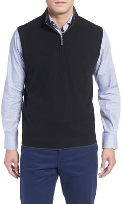 John W. Nordstrom Quarter Zip Cashmere Vest $175 thestylecure.com