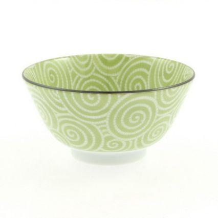 Sur La Table Kotobuki Green Spiral Soup Bowl, 12 oz.