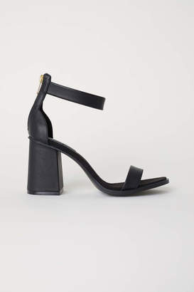 H&M Block-heeled Sandals - Black - Women