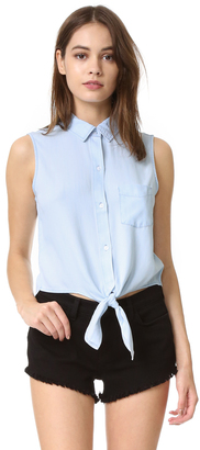 RAILS Shea Sleeveless Button Down Shirt $128 thestylecure.com