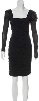 Dolce & Gabbana Ruched Long Sleeve Dress