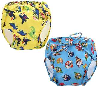 JELEUON 2 Pack Of Baby Kids Infants Toddler Boys Girls Reusable Washable and Adjustable Swim Diaper