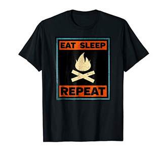 Eat Sleep Campfire Repeat T-shirt For Campers