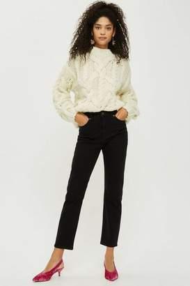 Topshop Black Straight Leg Jeans