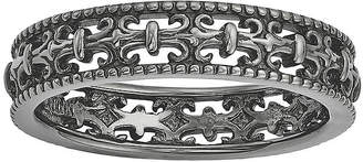 JCPenney FINE JEWELRY Personally Stackable Black Sterling Silver Fleur-de-Lis Ring