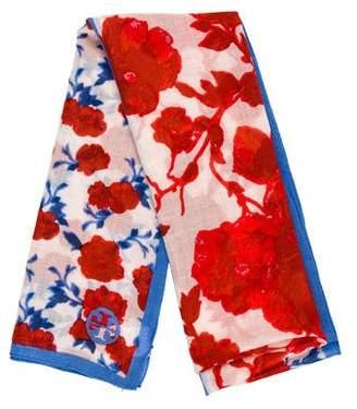 Tory Burch Wool Floral Scarf