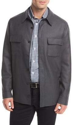 Brioni Wool Shirt Jacket
